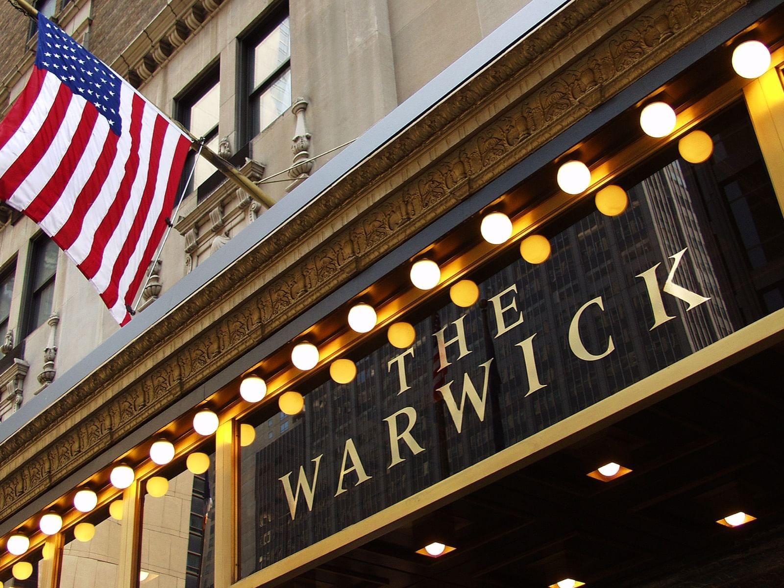 Entrée au Warwick New York