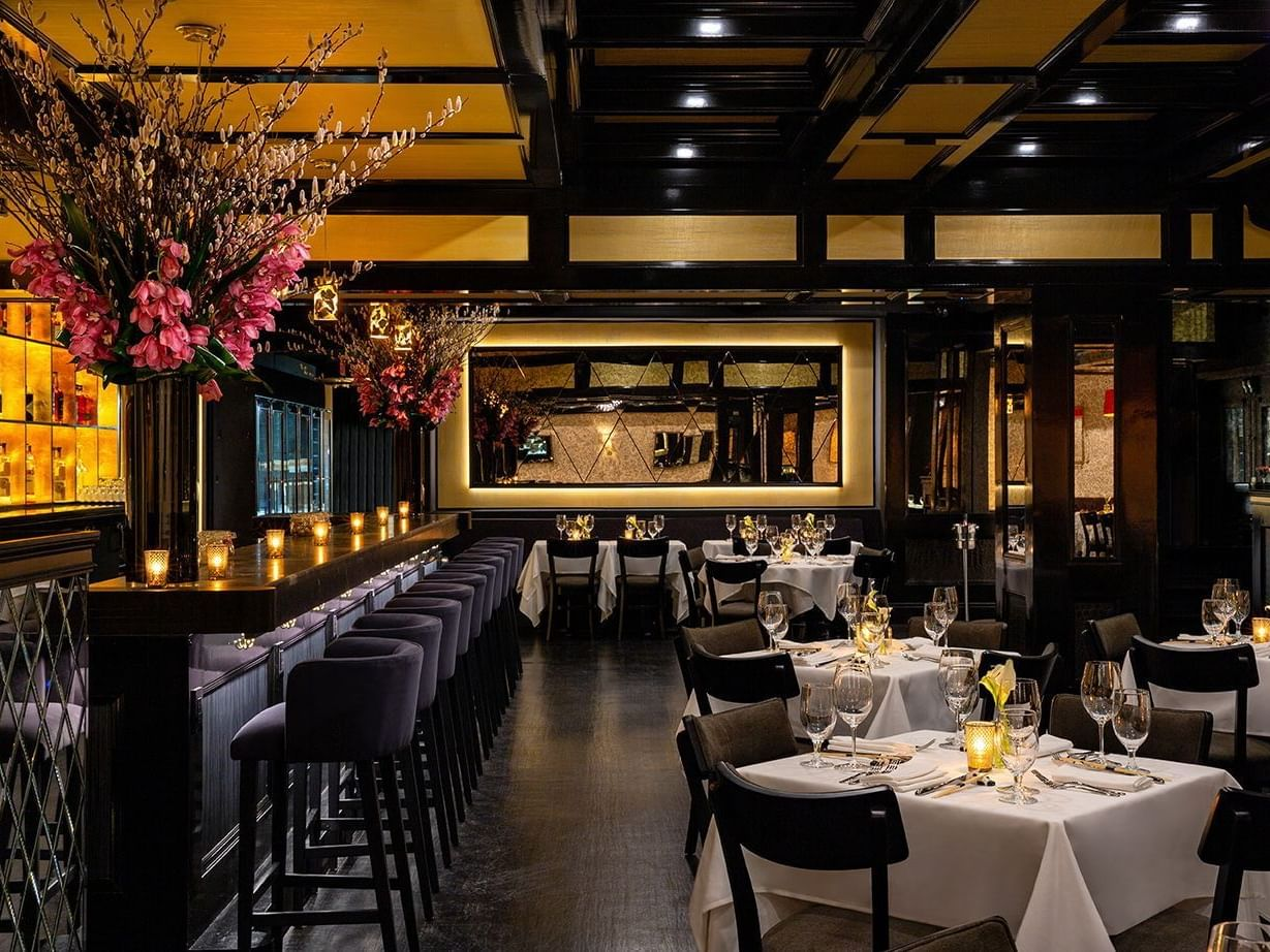 Dining & Bar area in Philippe Downtown at Dream Downtown NYC