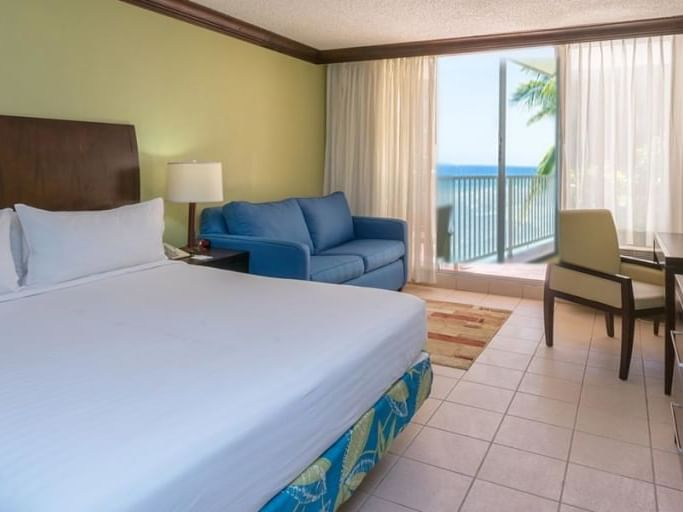 Bed & furniture in Superior Room at Holiday Inn Montego Bay