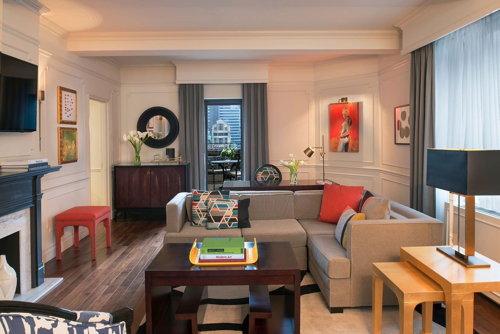 MoMA Signature Suite Living Room at Warwick New York