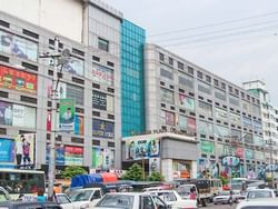 Aerial view of Yuzana Plaza near Chatrium Hotel Royal Lake Yangon
