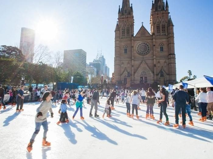 Skating at Cathedral Square - Pullman Sydney Hyde Park