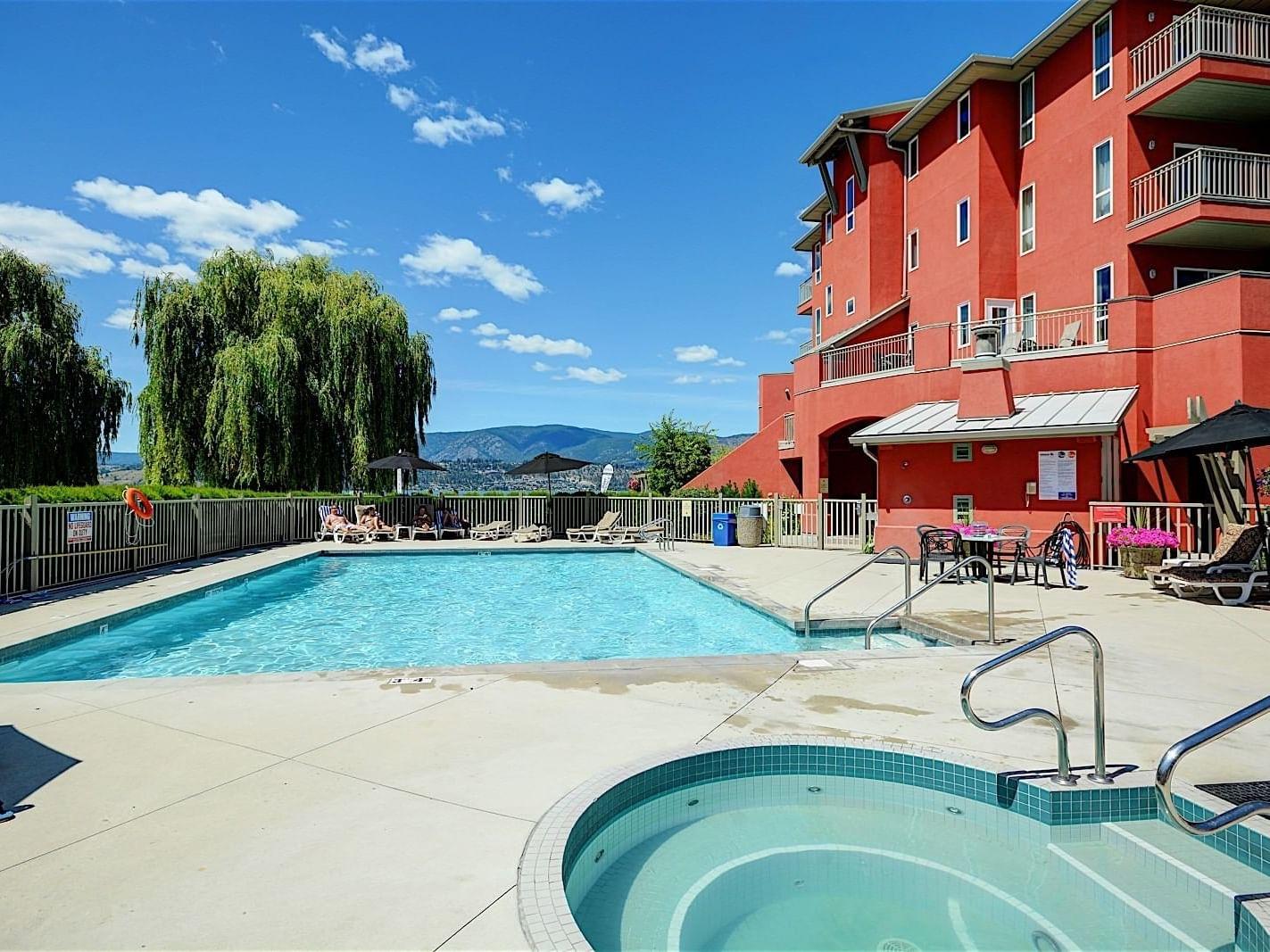 Pool area at Manteo Resort