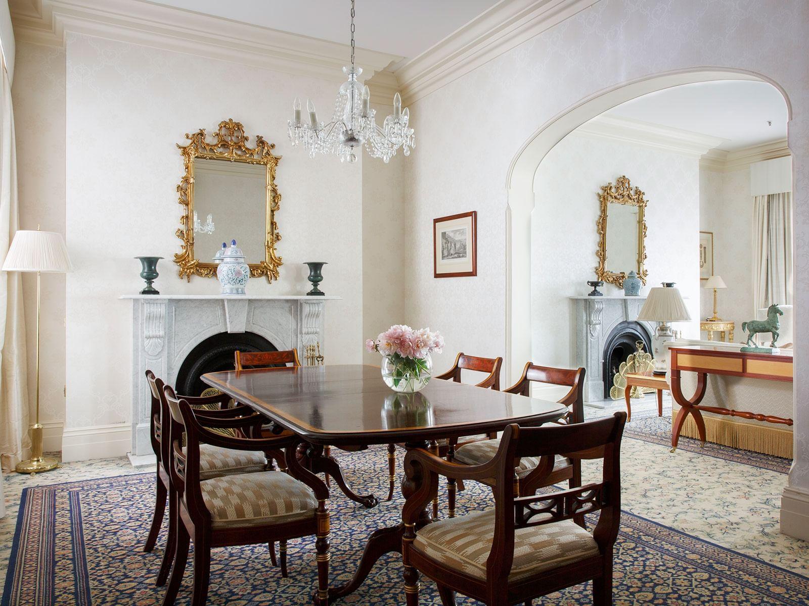 Royal Suite Dining Room at The Hotel Windsor Melbourne