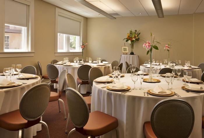 Indoor wedding tables