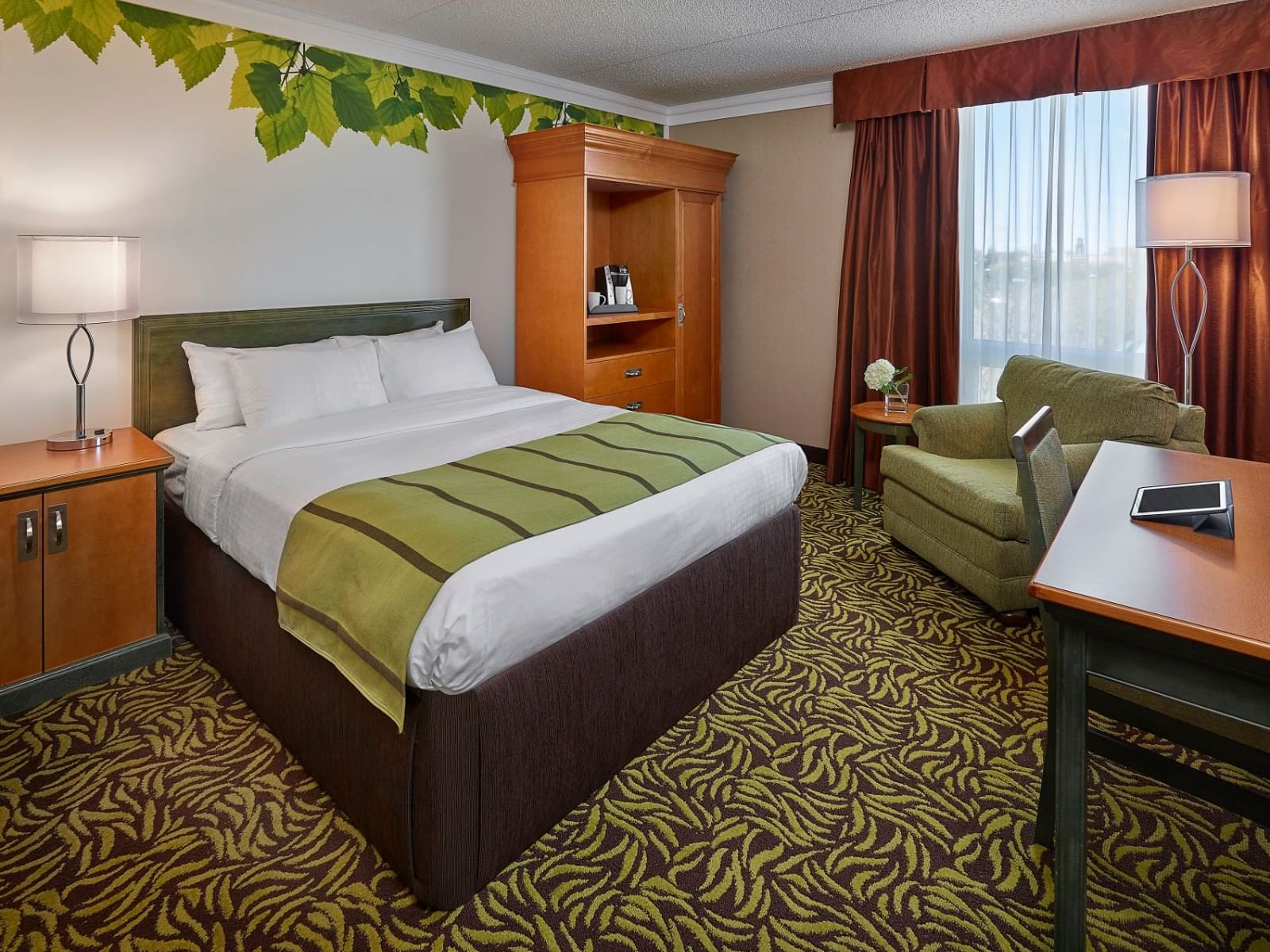 Deluxe Queen Bedroom with queen bed at Varscona Hotel on Whyte