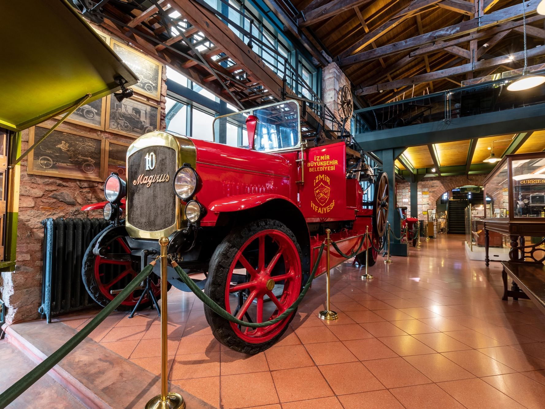 An ancient car in the Koc Museum near CVK Hotels
