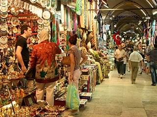 People shopping at Grand Bazaar near CVK Hotels