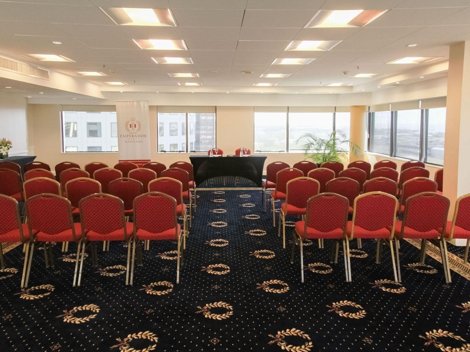 Gran Via meeting room arranged at Hotel Emperador Buenos Aires