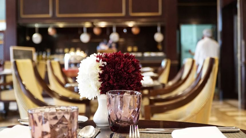 details view of a set table at Al Aziziyah Boutique Hotel Doha