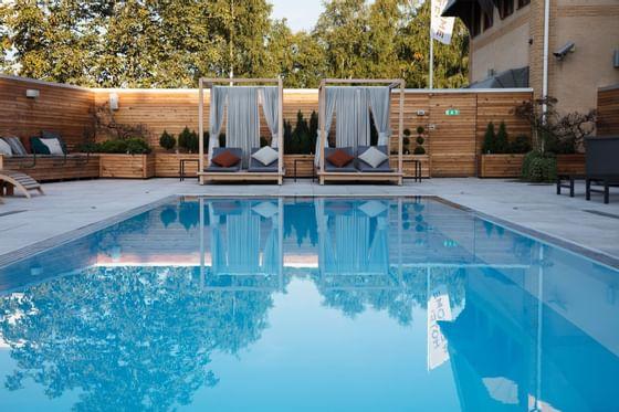 Pool at Welcome Hotel in Järfälla, Sweden