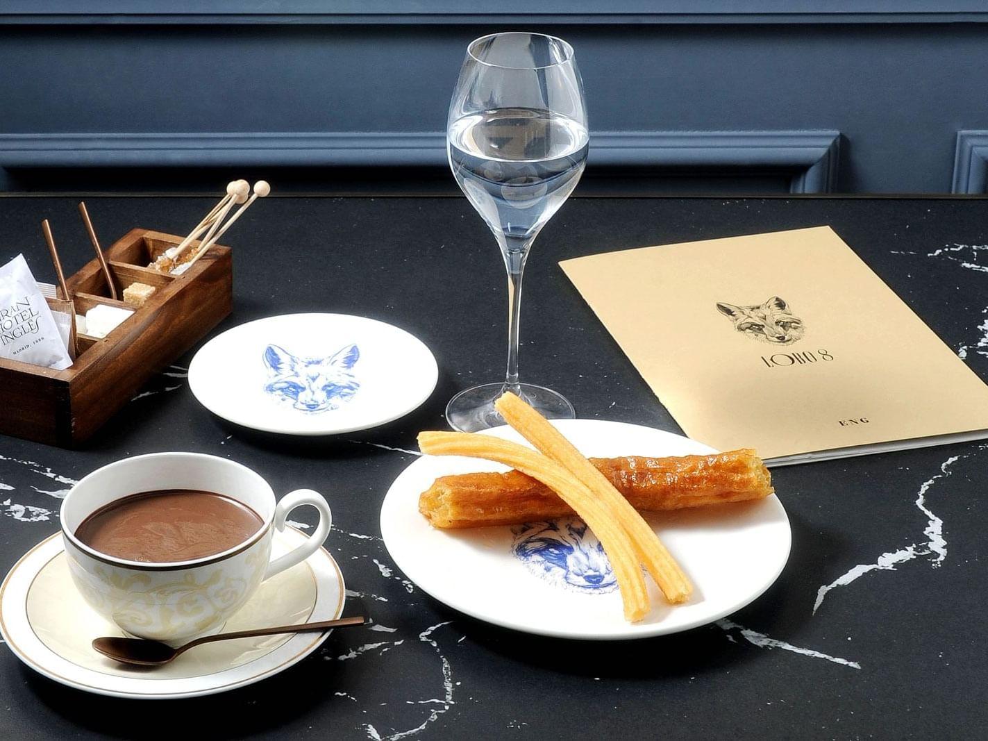 Breakfast at Gran Hotel Inglés in Madrid
