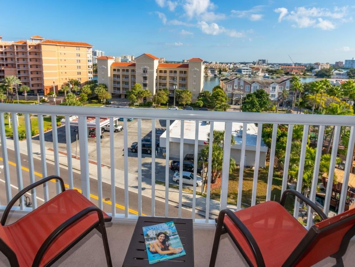 Balcony of city view room at Shephard's Beach Resort