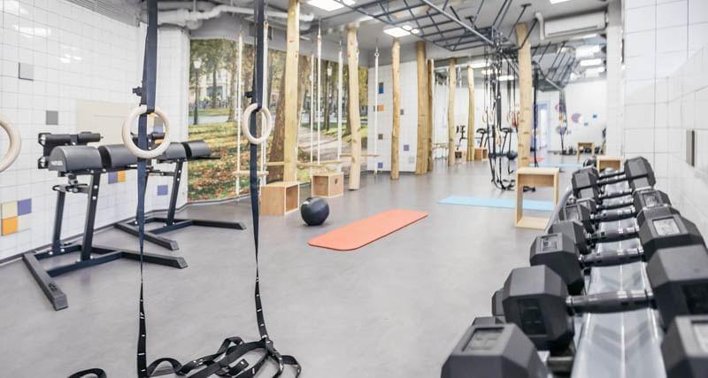 Gym at uHotel in Ljubljana