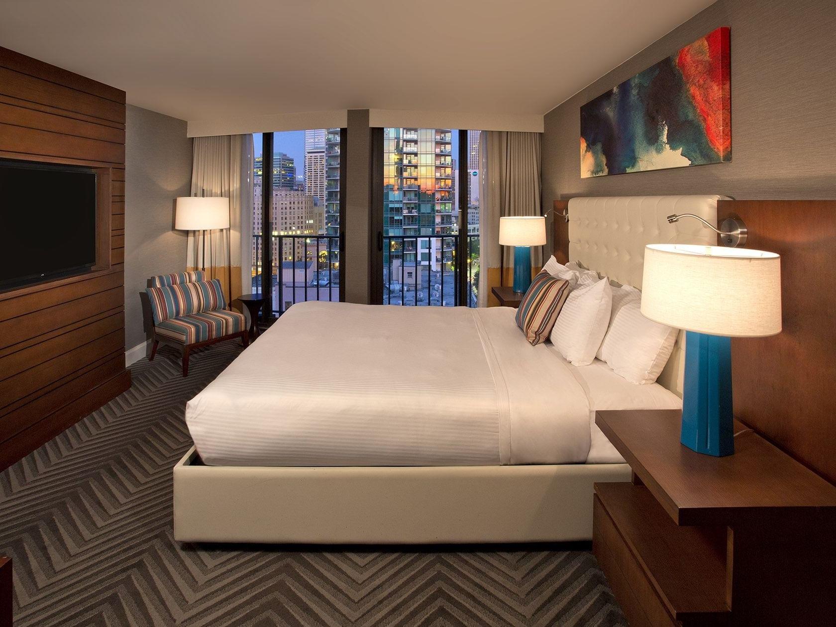 Evergreen Suite Bedroom at Warwick Seattle