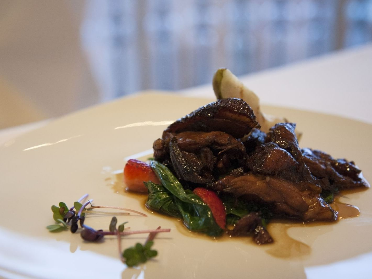 Food artfully plated in Rasato at Grand Fiesta Americana Los Cabos All Inclusive Golf and Spa