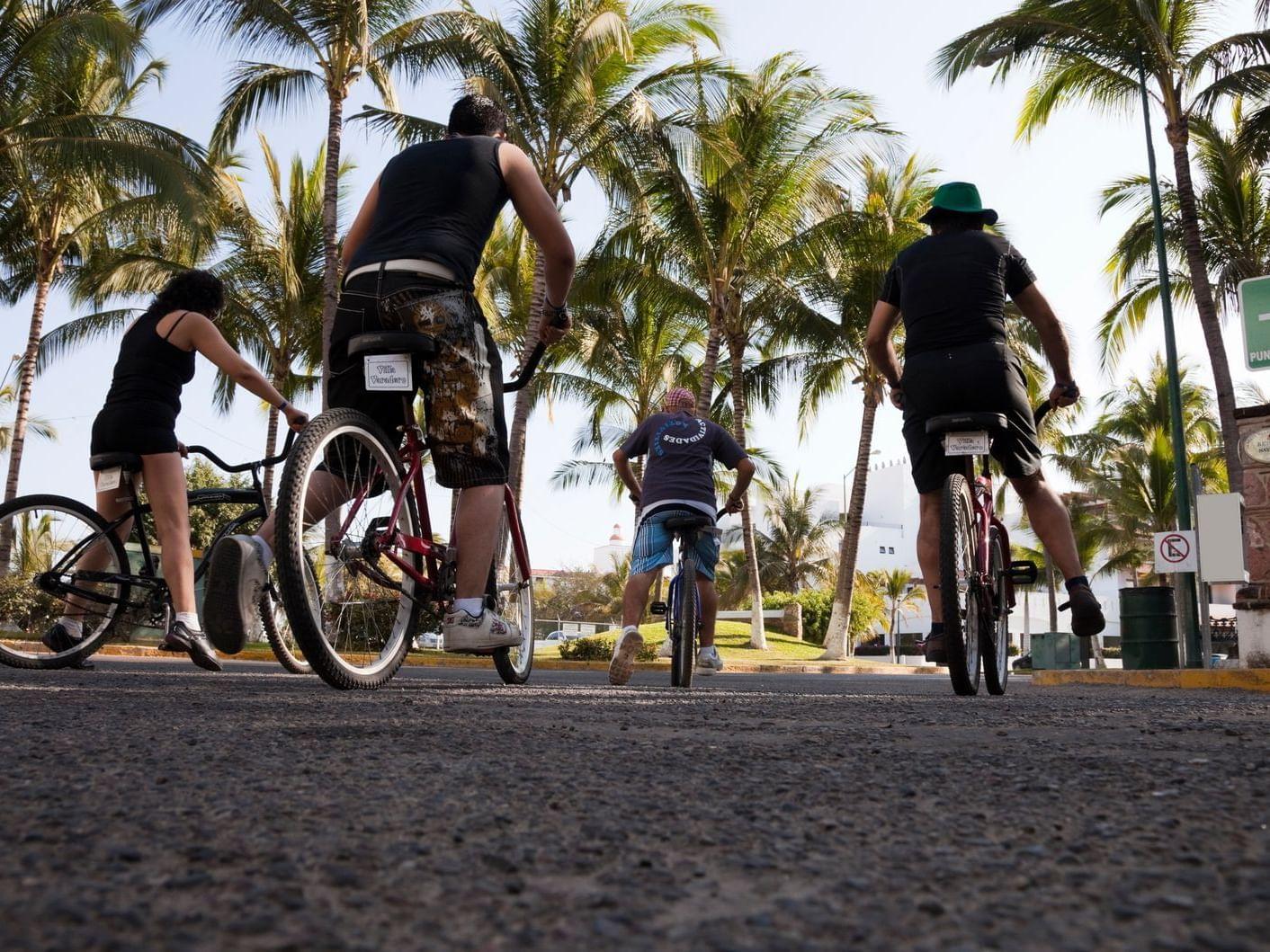 Riding Bicycles at Hotel Villa Varadero