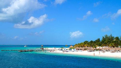 MUJERES island and beach near The Reef Resorts