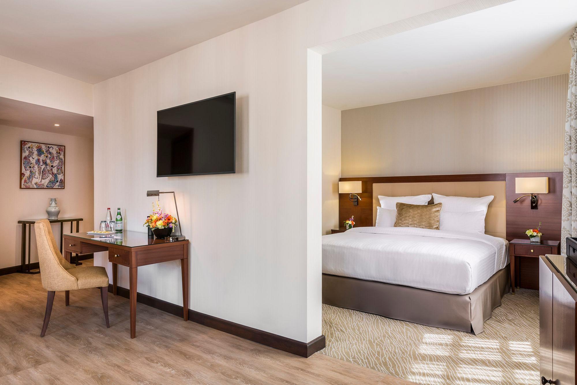Junior suite privilege met uitzicht slaapkamer