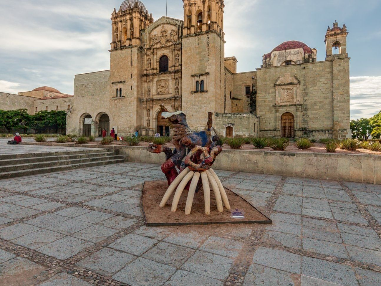 Statue in the Main plaza in the Oaxaca city