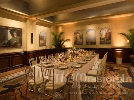 Mission Inn coference room with large dining table and chairs
