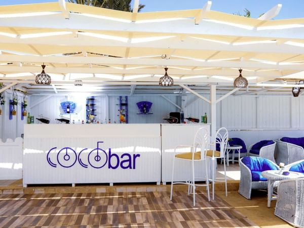 Coco Bar Counter And Seating Area