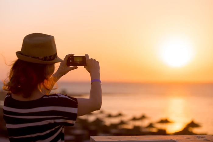 take pictures of natures in Sunset Plaza Beach Resort