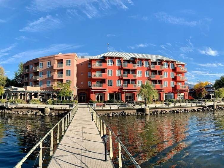 Exterior view of the docks near Manteo Resort