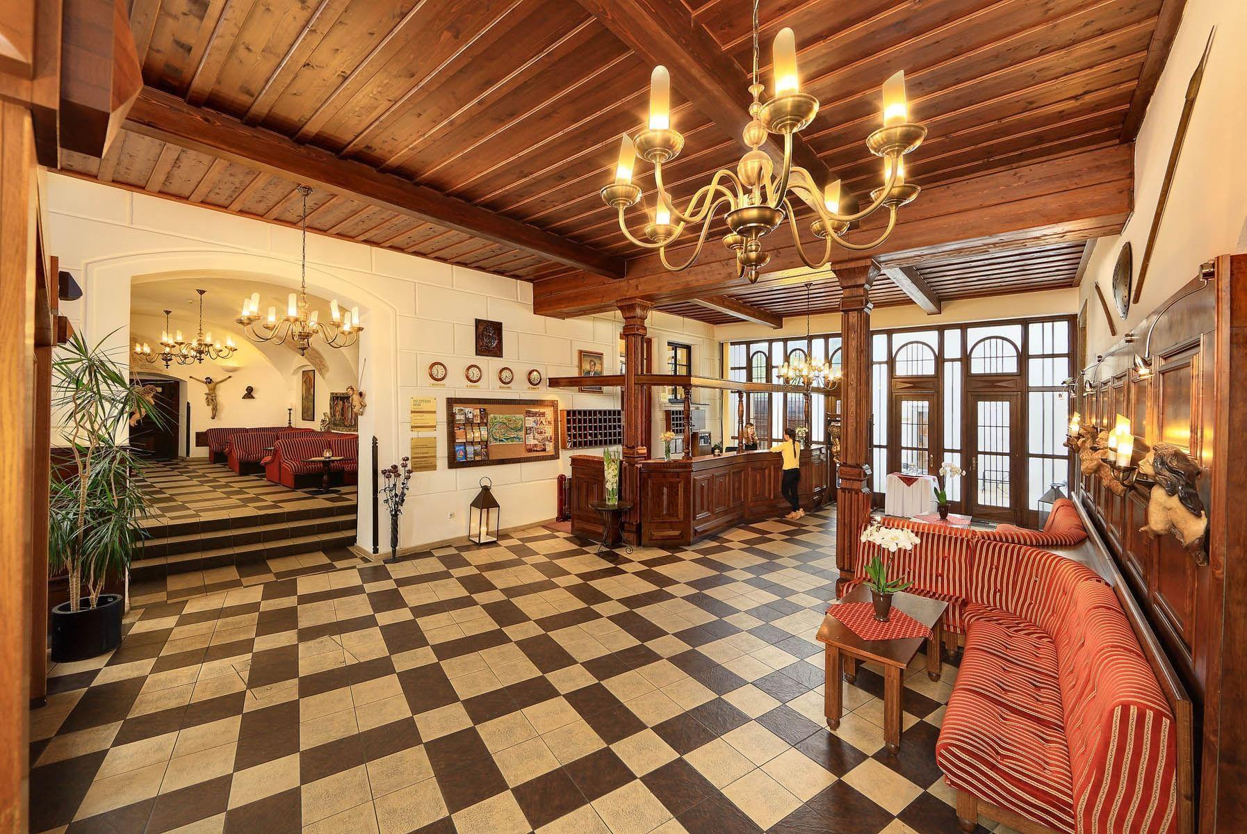 Reception at Hotel Ruze, Český Krumlov, Czech Republic