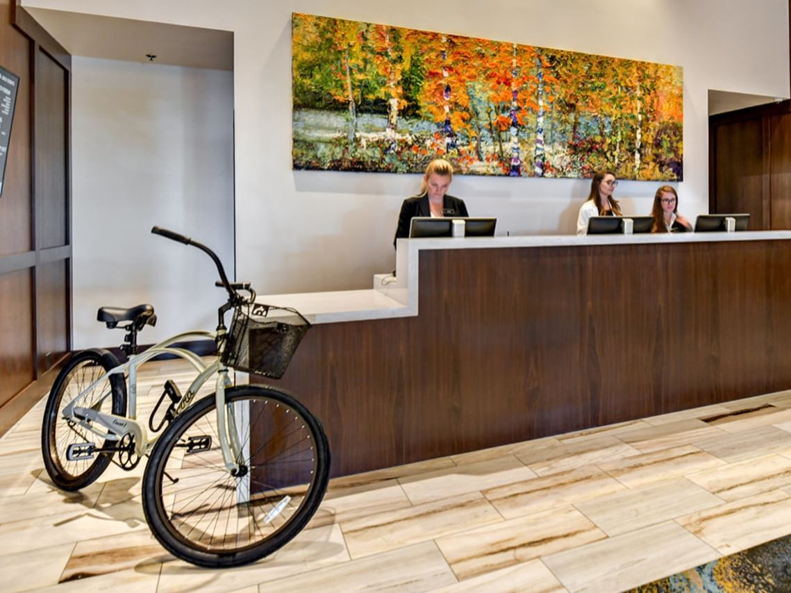 hotel bike for check-out available at the front desk