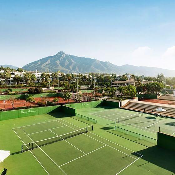 Tennis court at Marbella Club