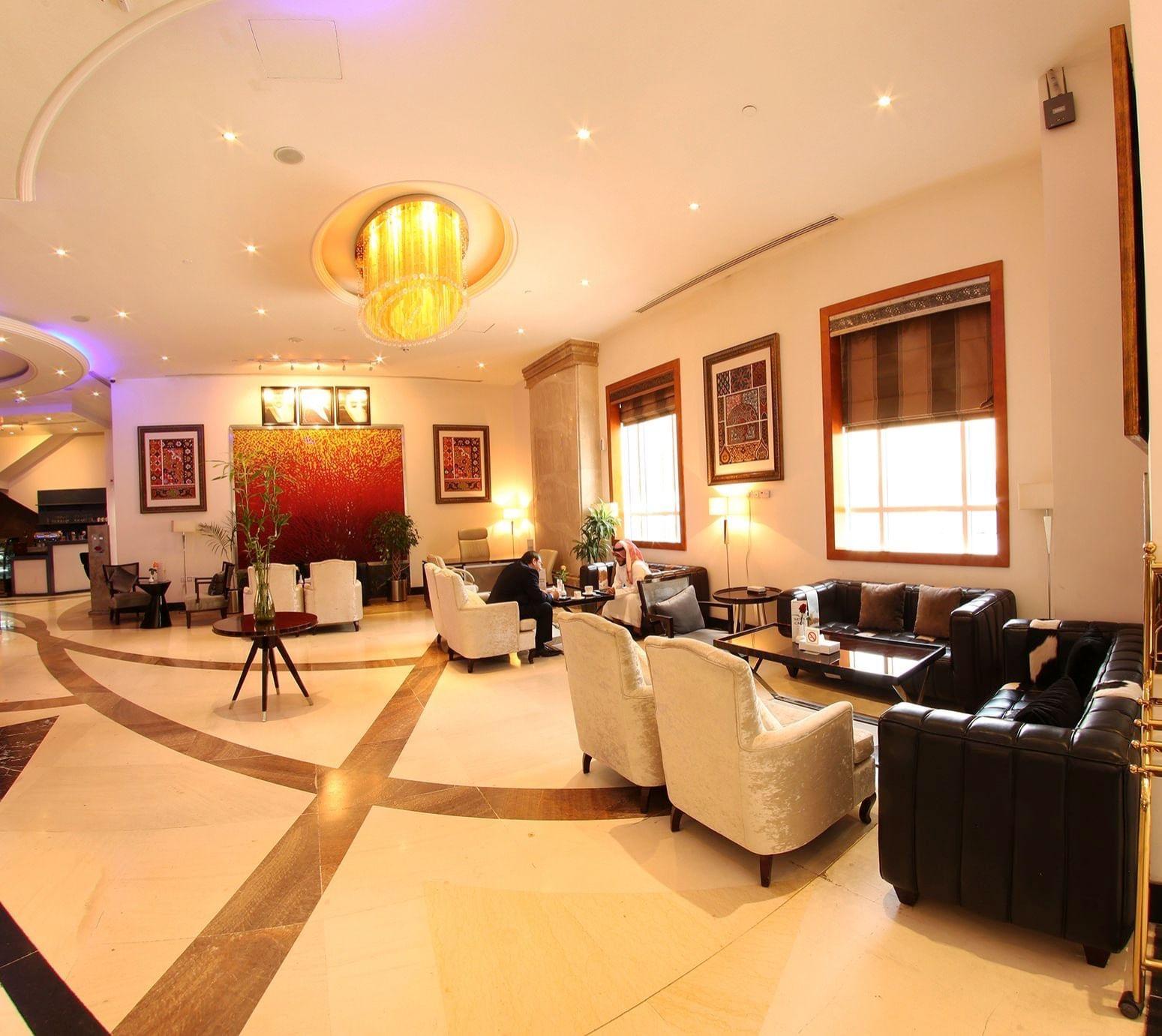 Lobby area at Dabab Hotel by Warwick Riyadh