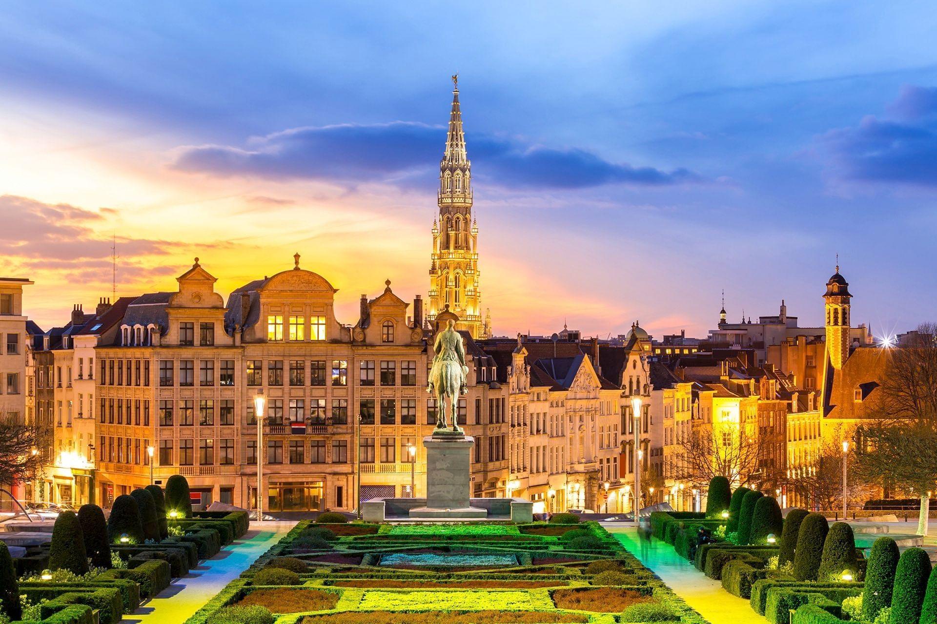 Brussel uitzicht Kunstberg