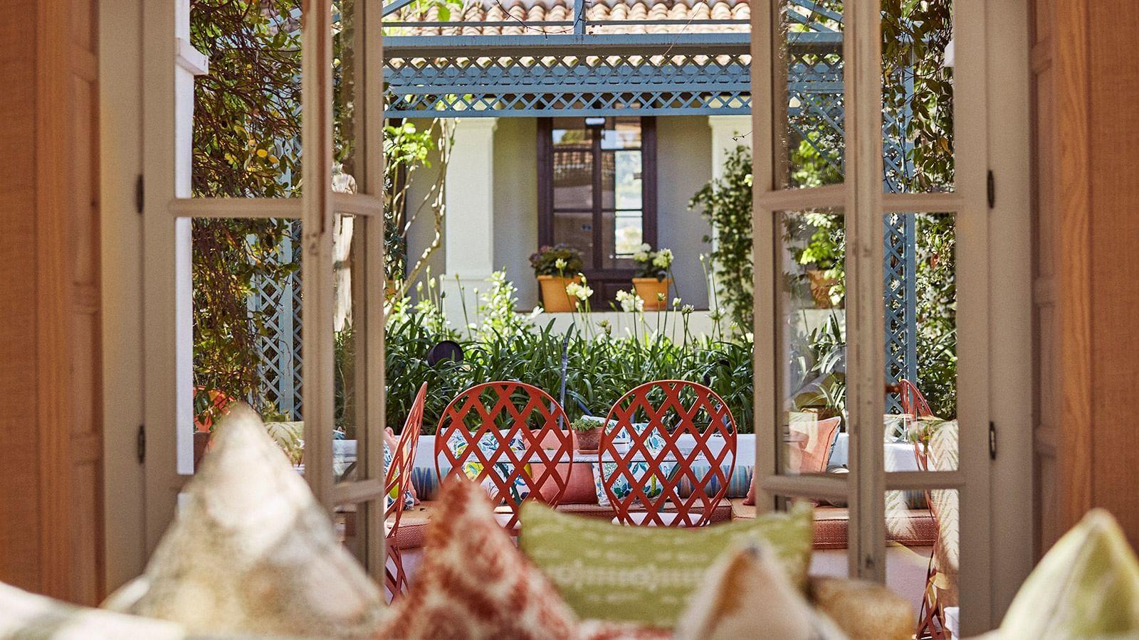 View from El Patio Restaurant at Marbella Club Hotel