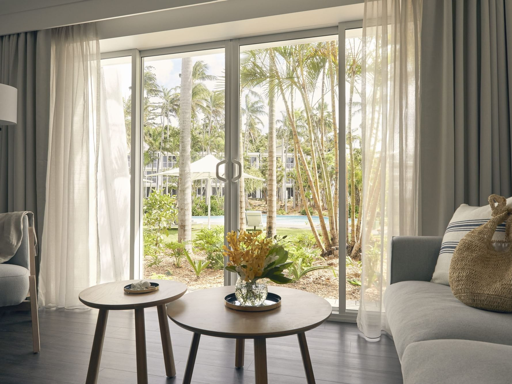 Living area in Superior room at Daydream Island Resort