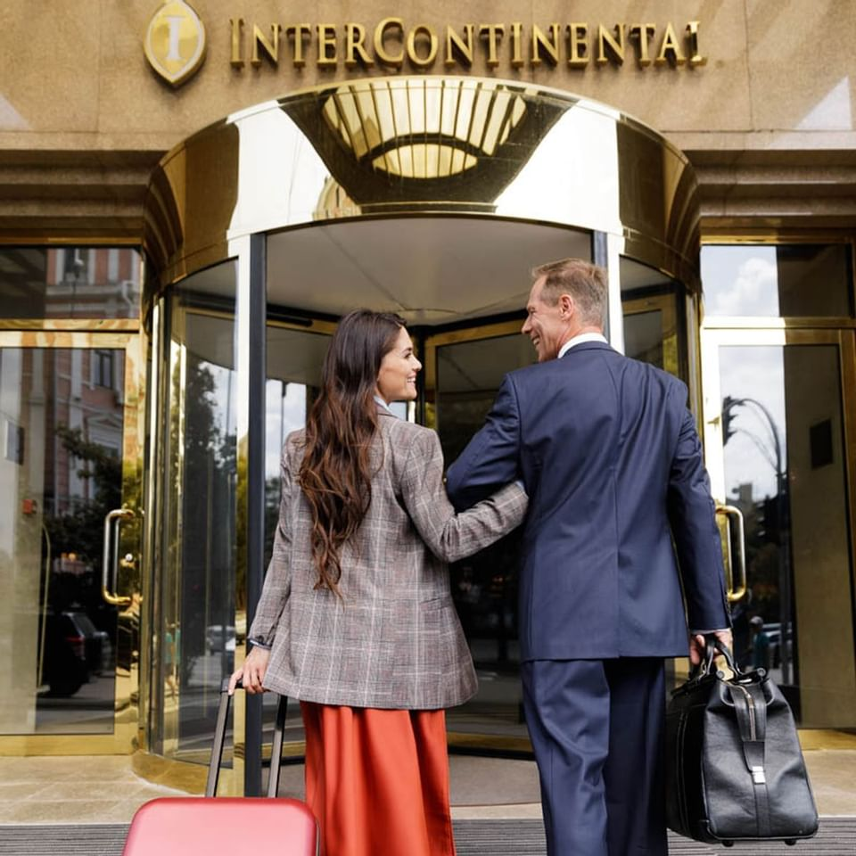 Couples enjoy to visit in Intercontinental Kyiv hotel