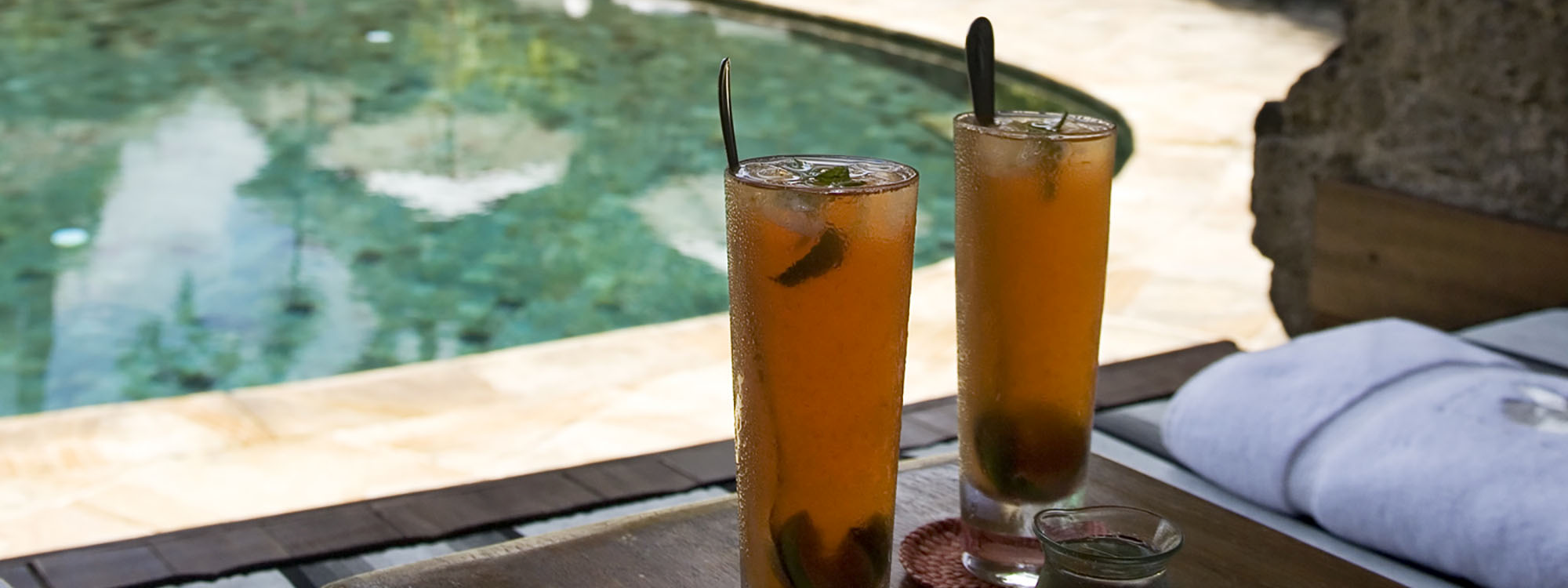 Pool with Fresh Juice