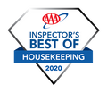 Diamond shaped badge from AAA for Inspector's Best of Housekeepi