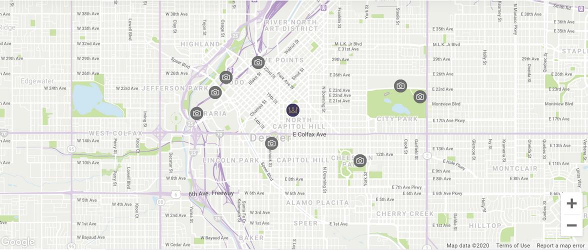 Map location Warwick Denver