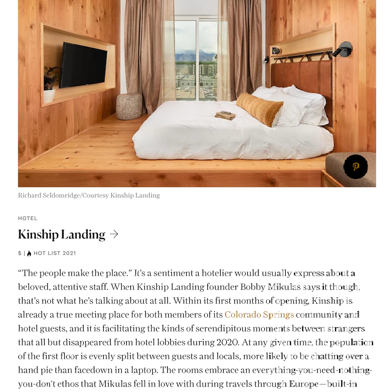 Junior Suites image with the article about Kinship Landing
