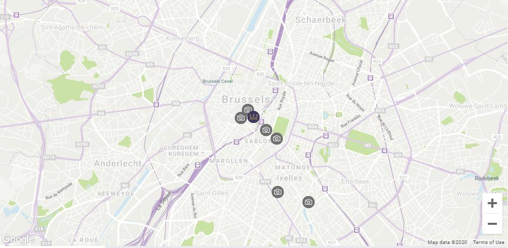 Map Location Warwick Brussels