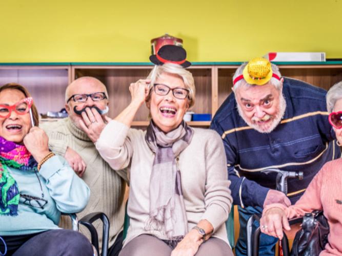 Senior citizens enjoying their stay at Diamond Sedona Portal Hotel