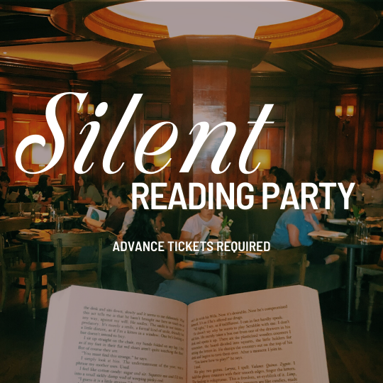 silent reading party book in a hotel