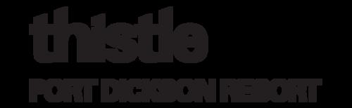 Word logo of Thistle Port Dickson Resort