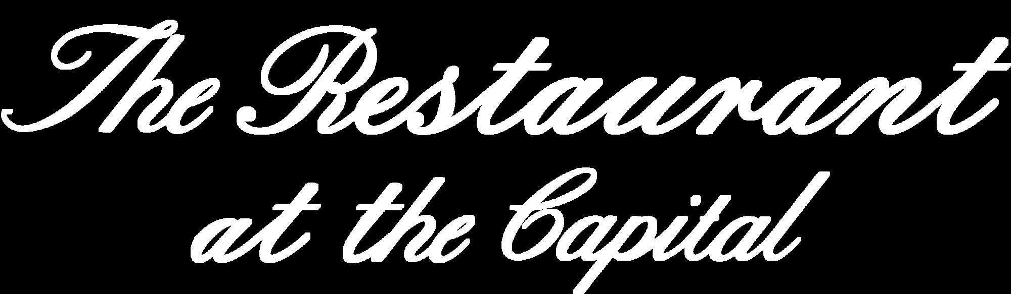 The Restaurant at the Capital Logo White