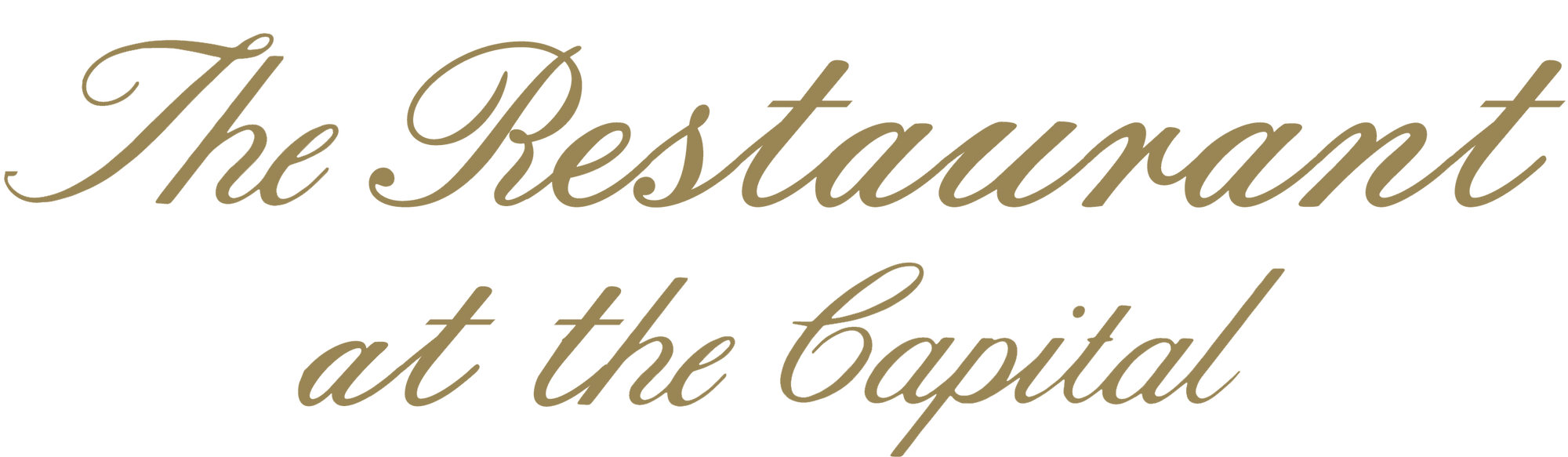 The Restaurant at the Capital Logo