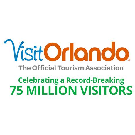 Visit Orlando 75 Million Visitors Logo