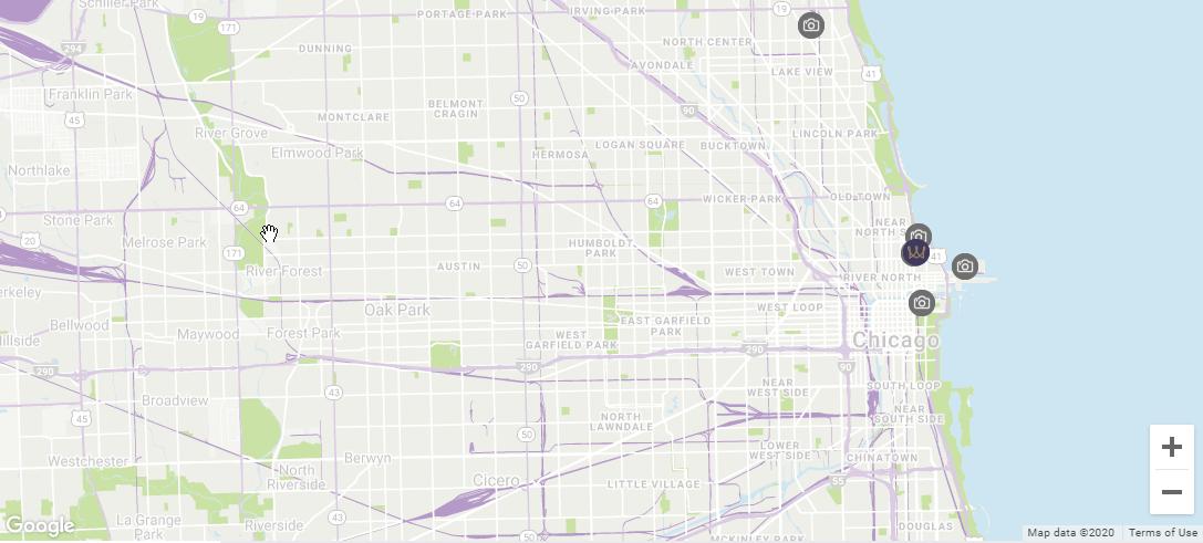 Map location Warwick Allerton - Chicago