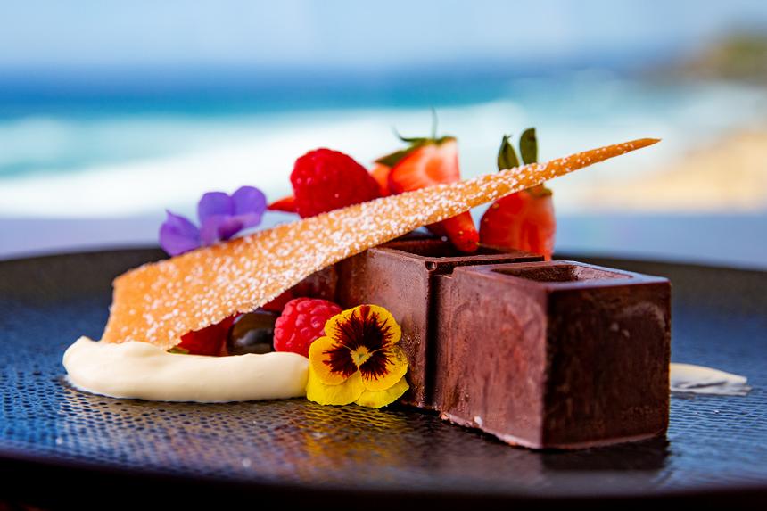 Dark chocolate dessert