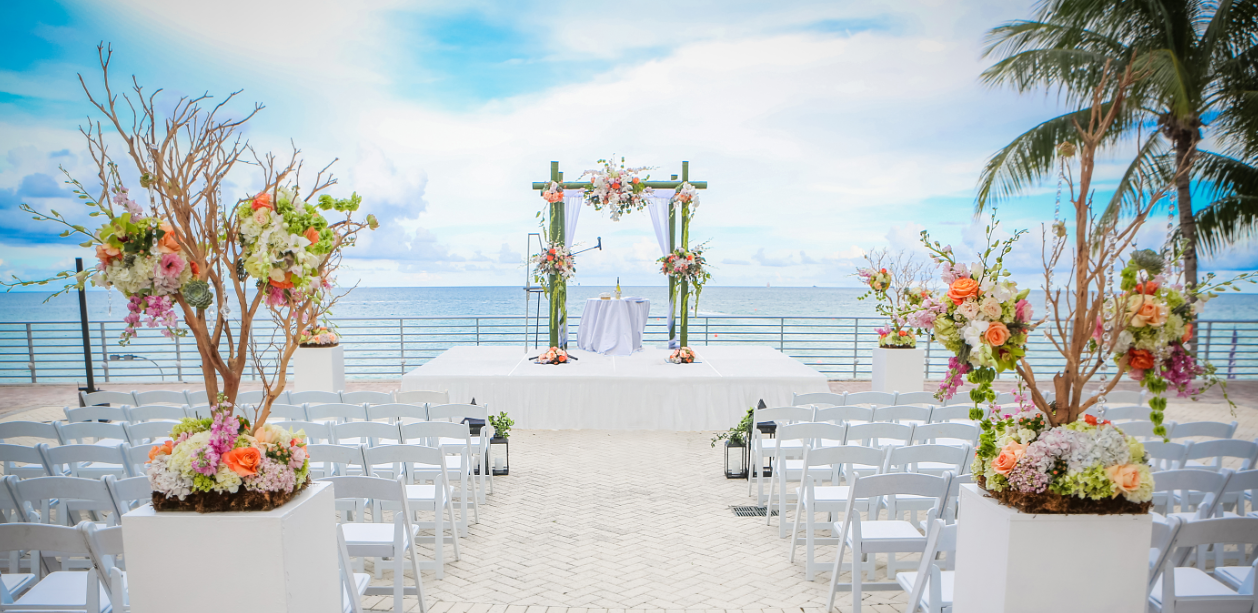 South Palm Outdoor Ocean view Reception